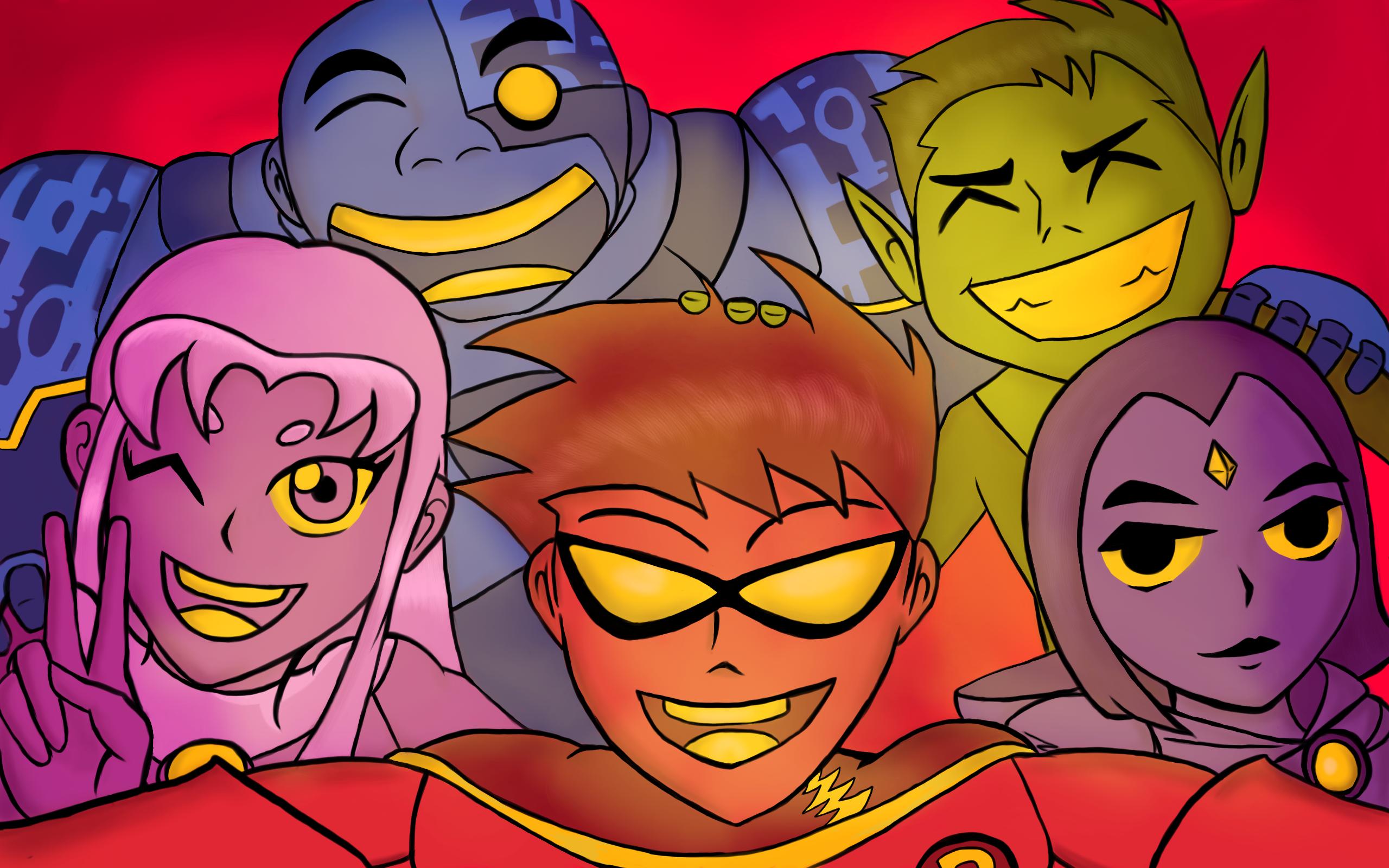 Teen Titans Selfie