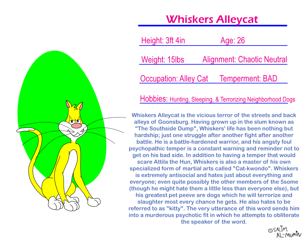 Fact File: Whiskers Alleycat