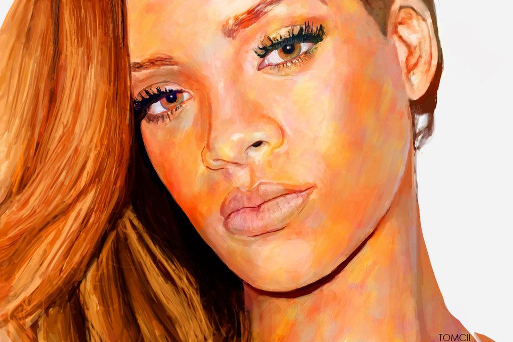 Rihanna Portrait painting