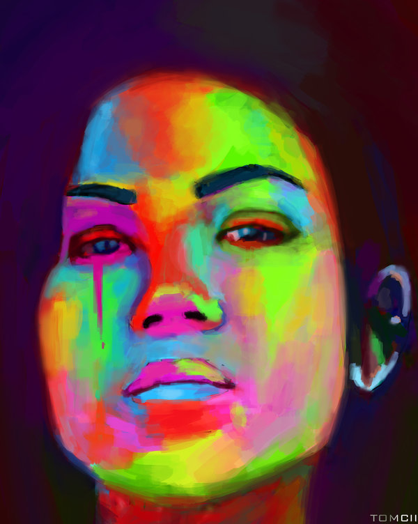 Jhene Aiko Portrait Painting