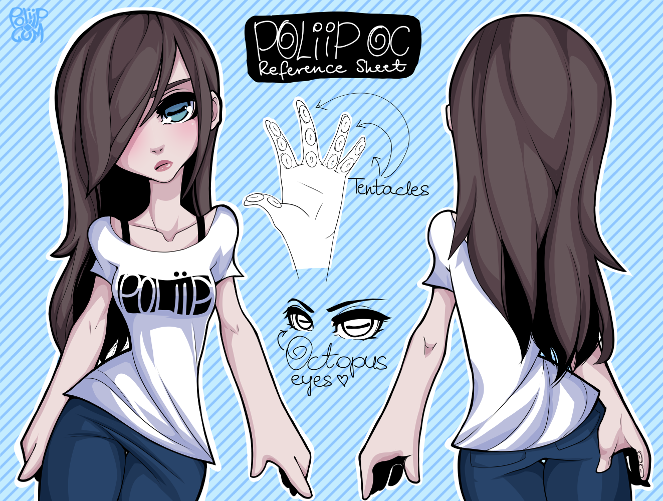 Poliip Character Design