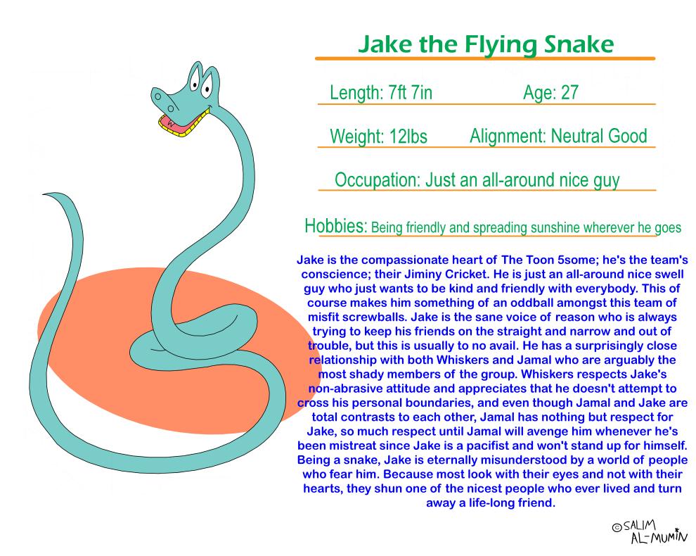 Fact File: Jake the Fly Snake