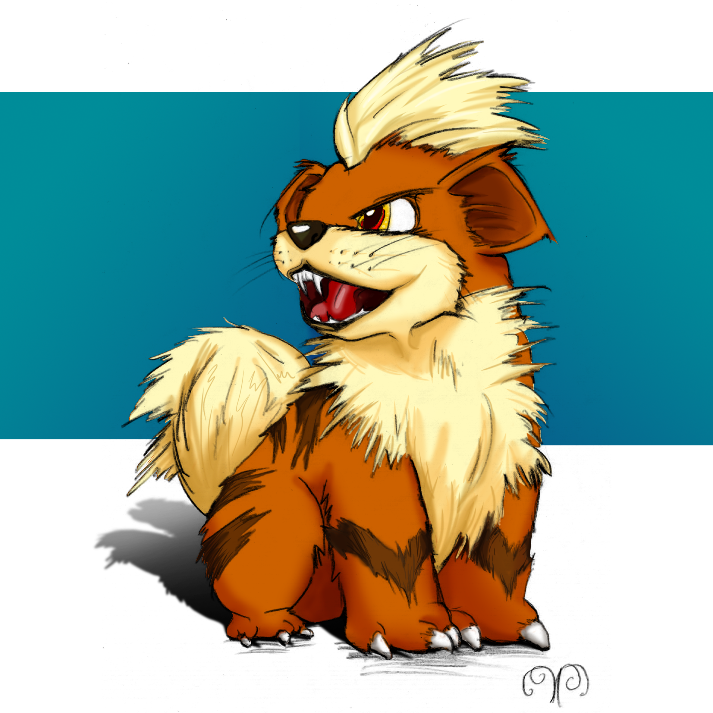 Growlithe Painting