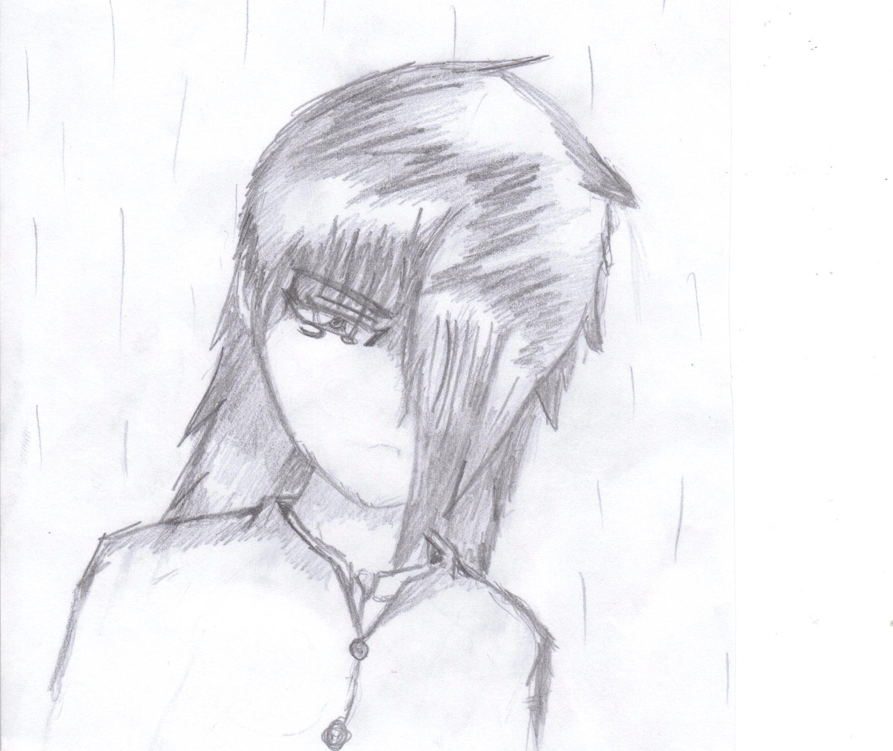 Emo Anime Drawing