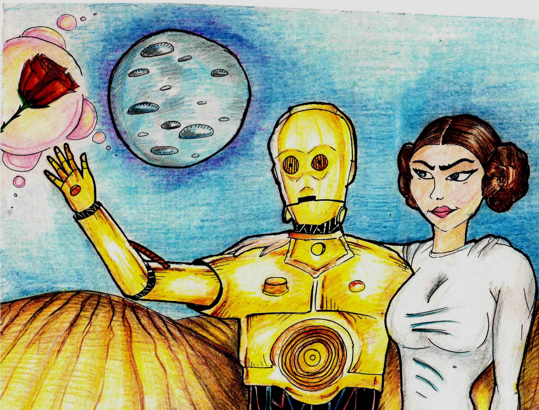 C3PO AND PRINCESS LEIA