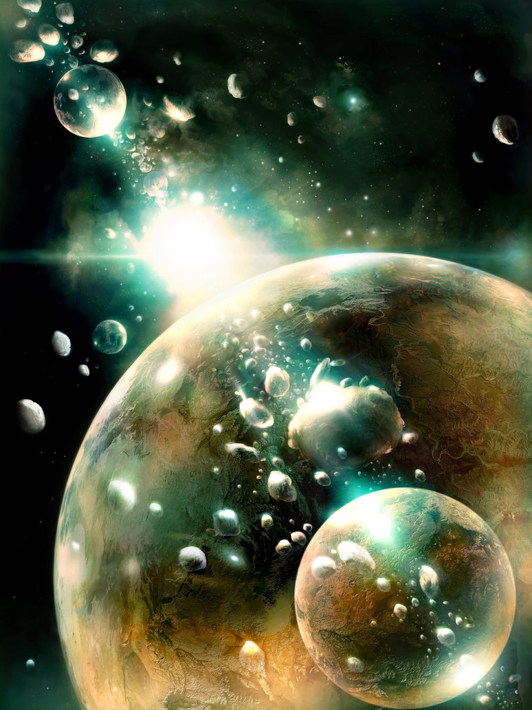 Glass bubbles in Space