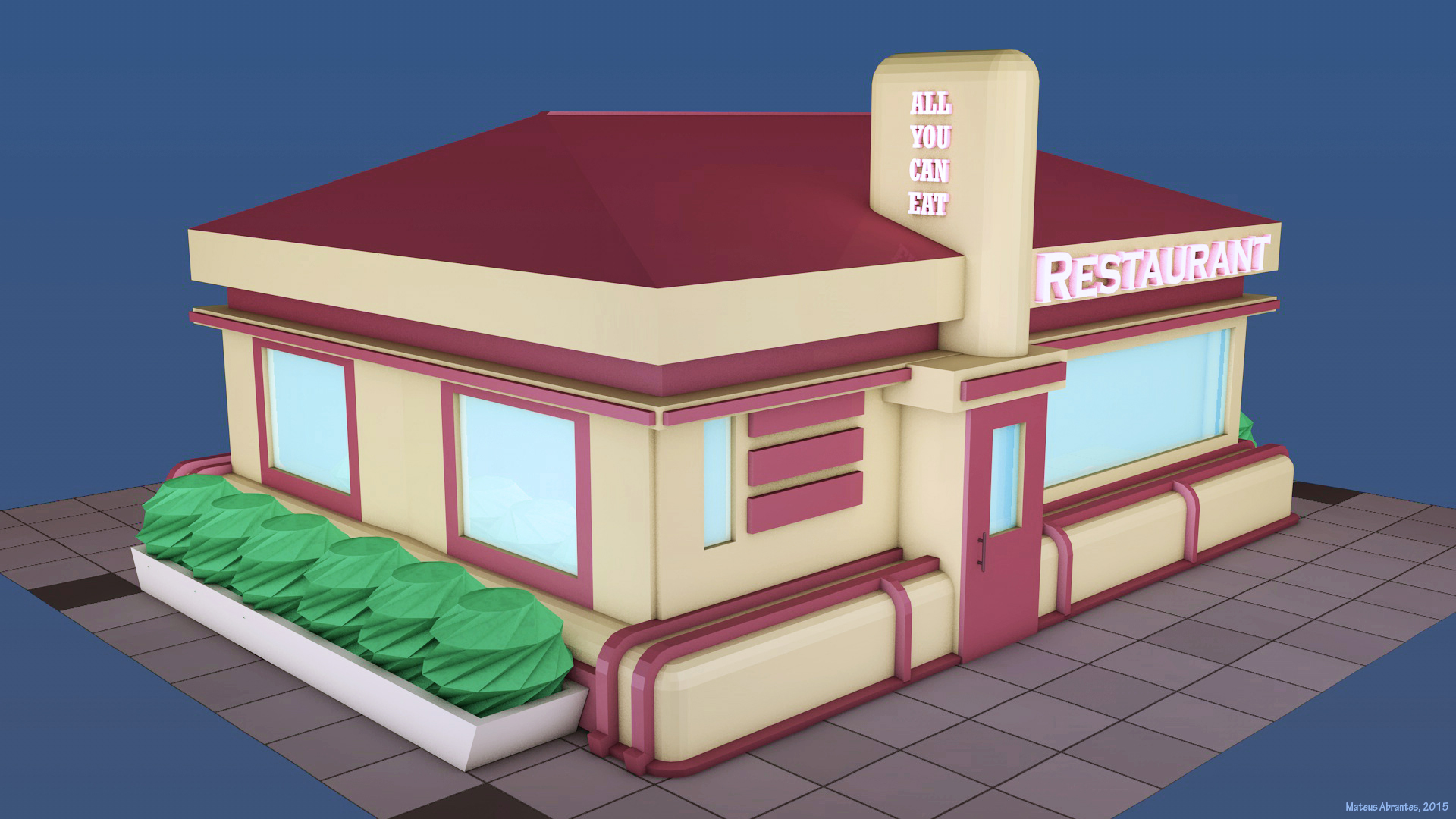 Low Poly Restaurant