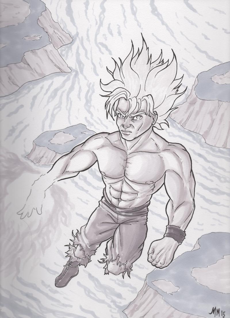 Goku In Prismacolor