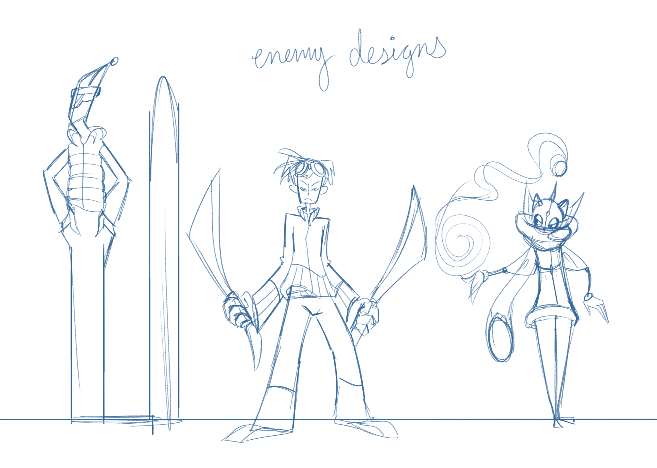 Enemy Sketches