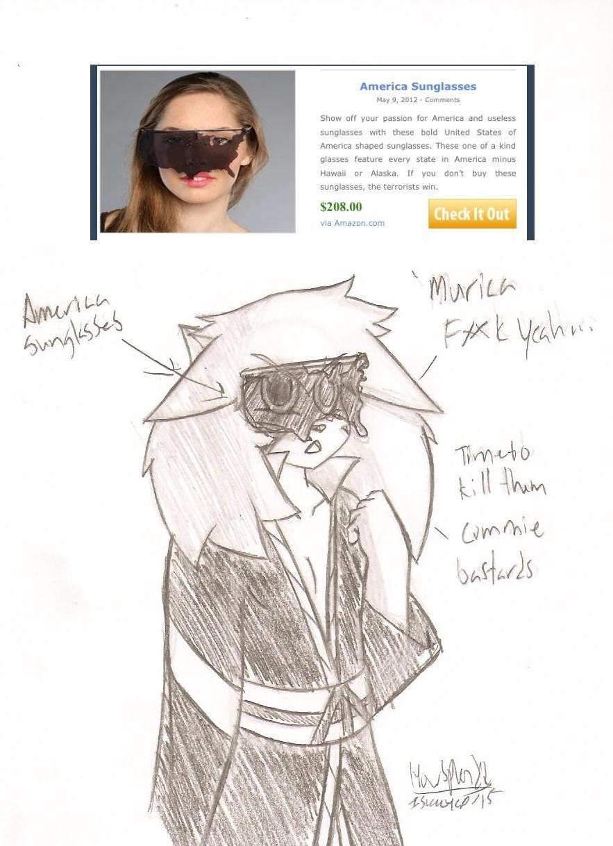 Caroline's 'Merica sunglasses