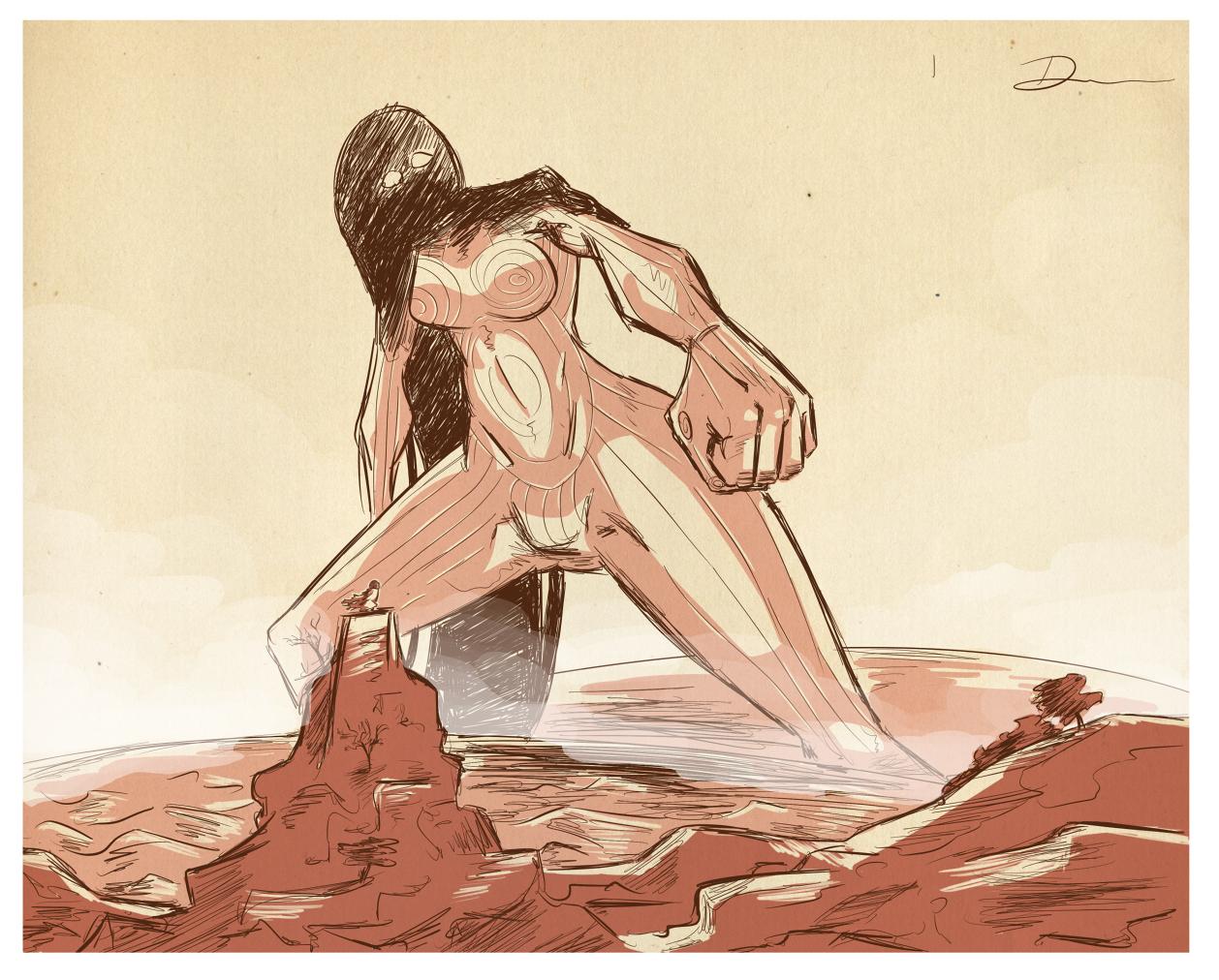 Encountering a Titan