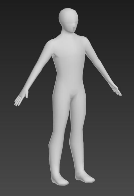 Low Poly 3d Human male base