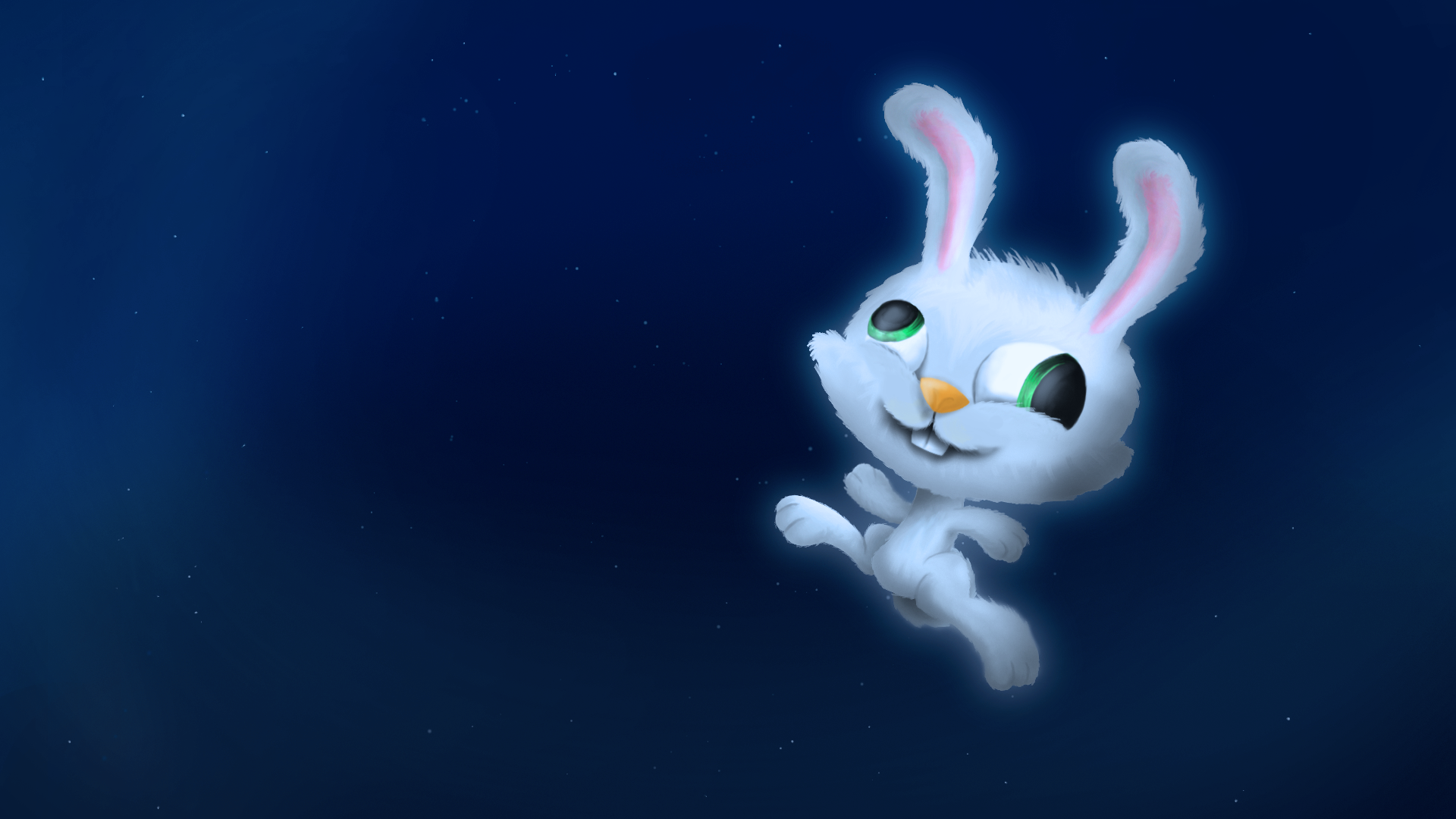 Happy lil rabbit in space