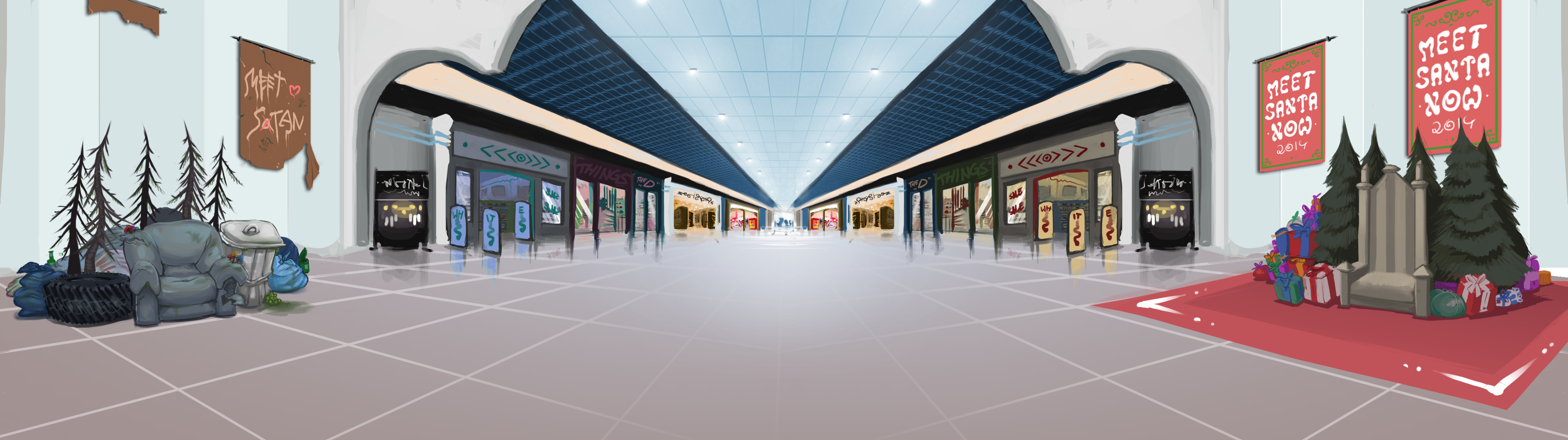 Shopping Mall Background