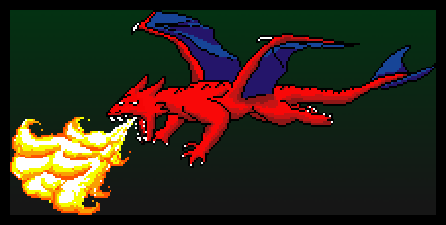 Dragon made in MMO Paint