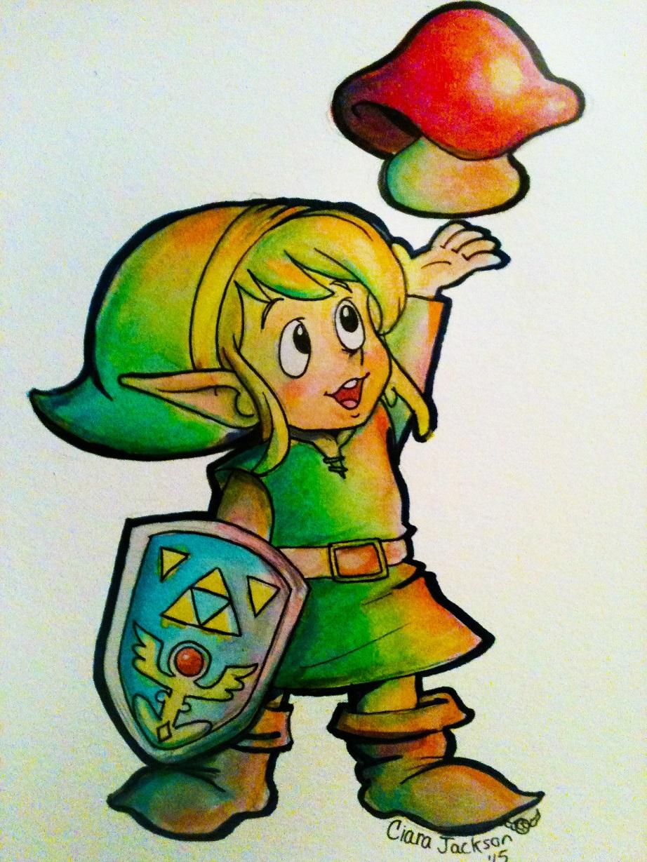 Link found a Mushroom!