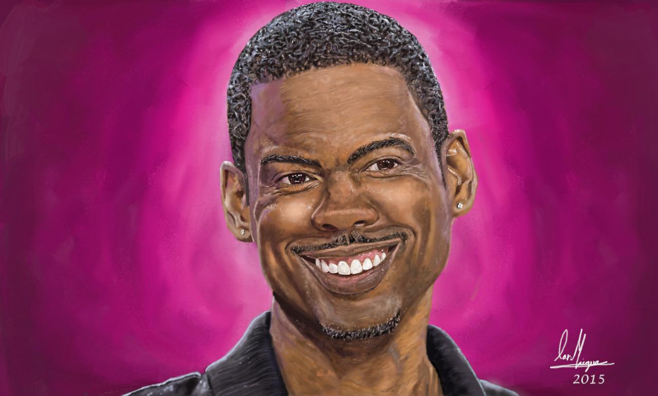 Chris Rock Portrait Painting