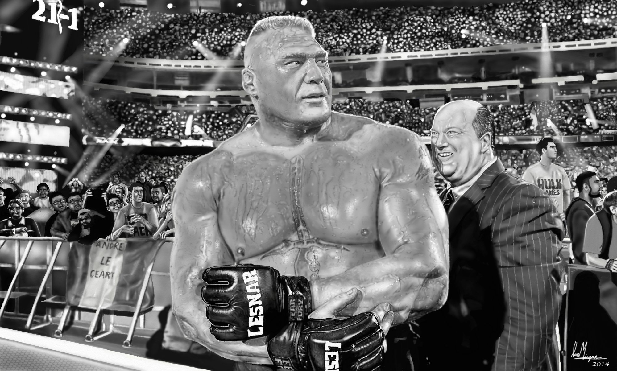 WWE Brock Lesnar Painting