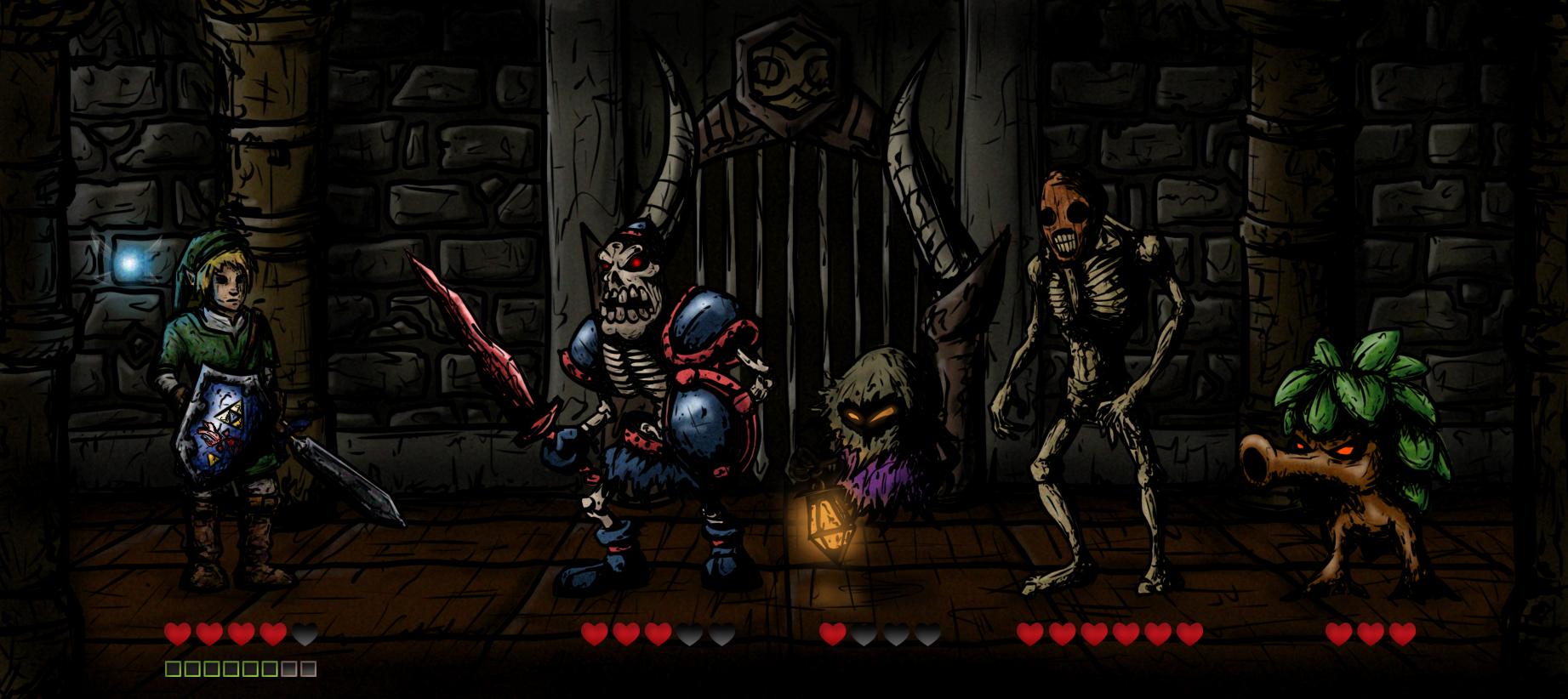 LoZ meets Darkest Dungeon!