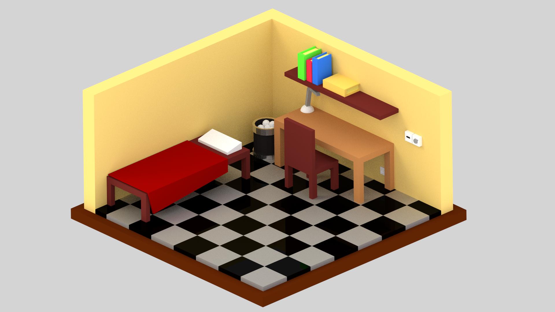 Little isometric room