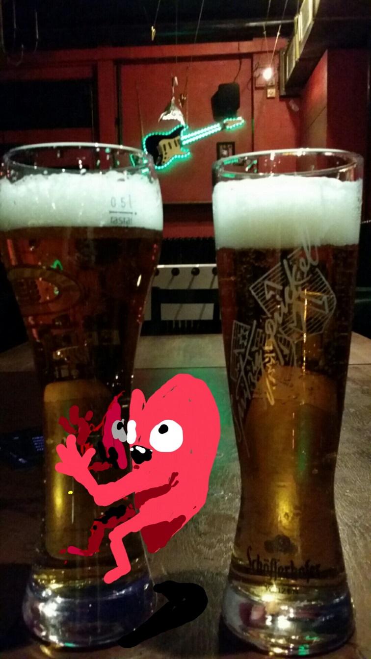 Bored at the bar.