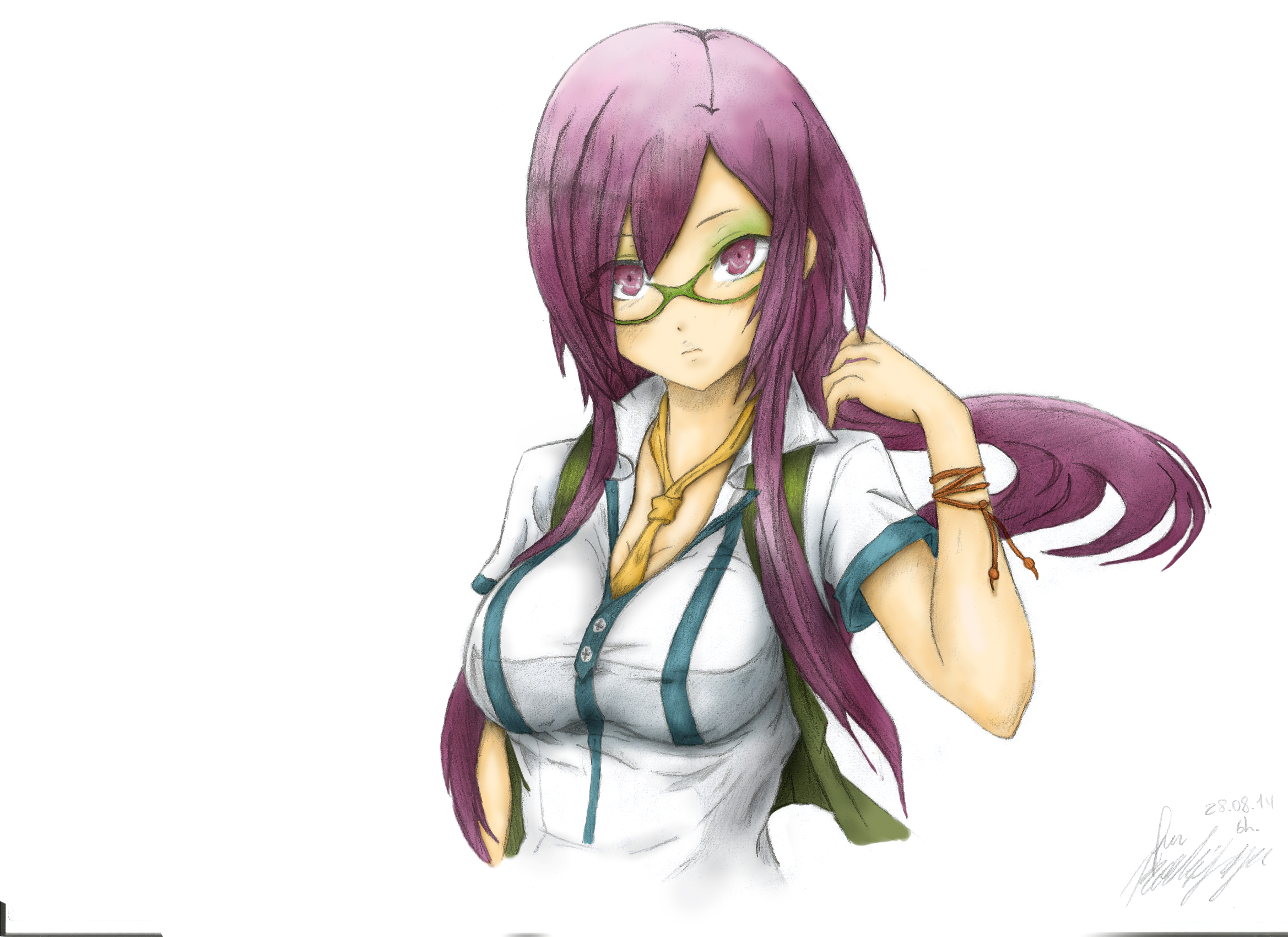 Hot Purple-haired teacher :)