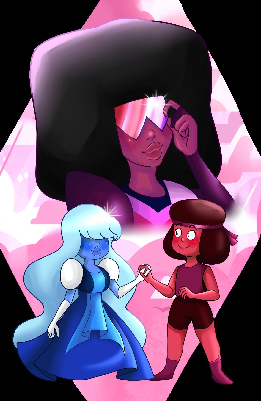 Ruby Sapphire with Garnet