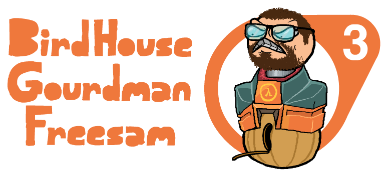 BirdHouseGourdman Freesam