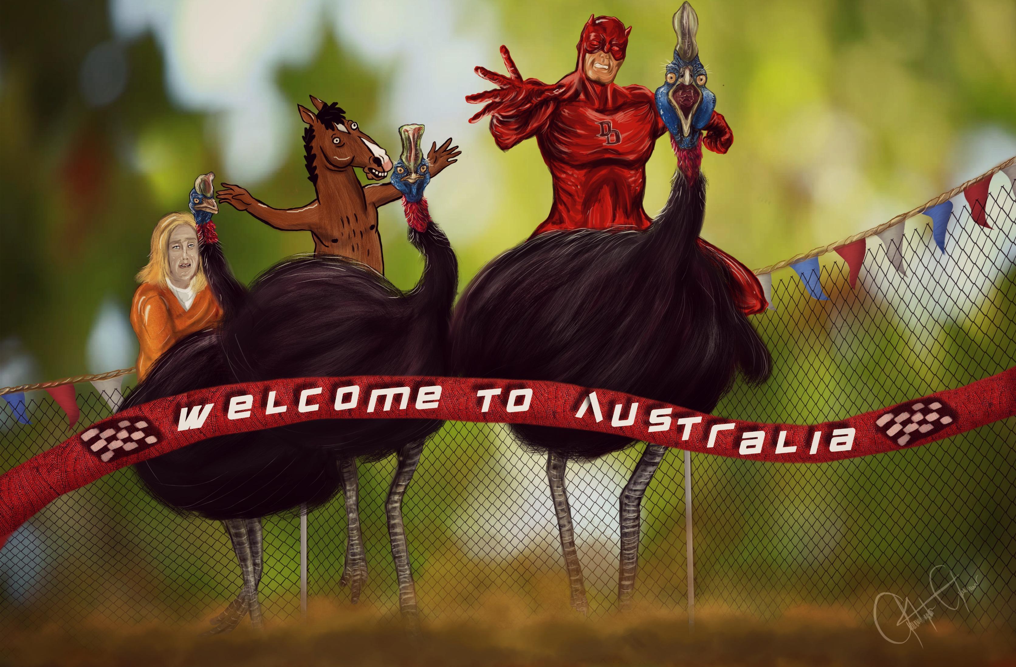 Rushing to Australia