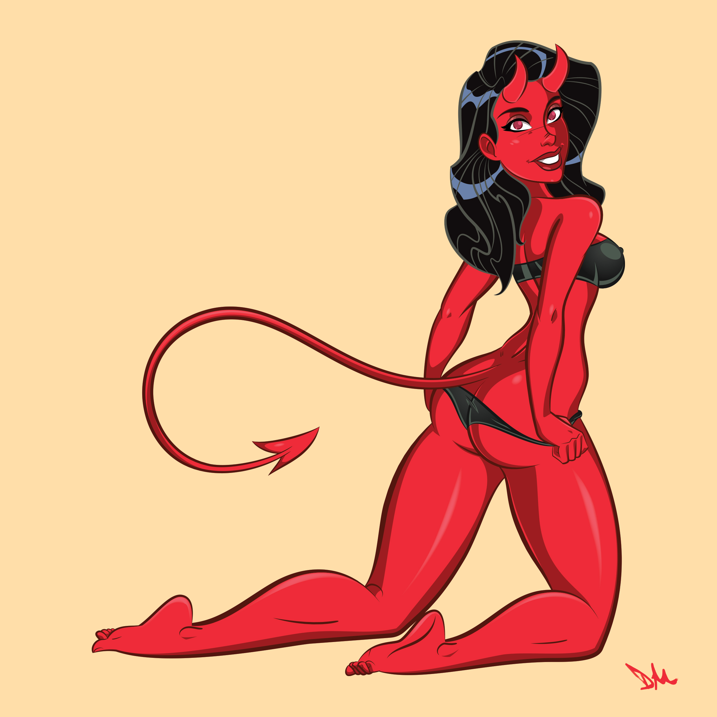Cindy Devil Pin-up