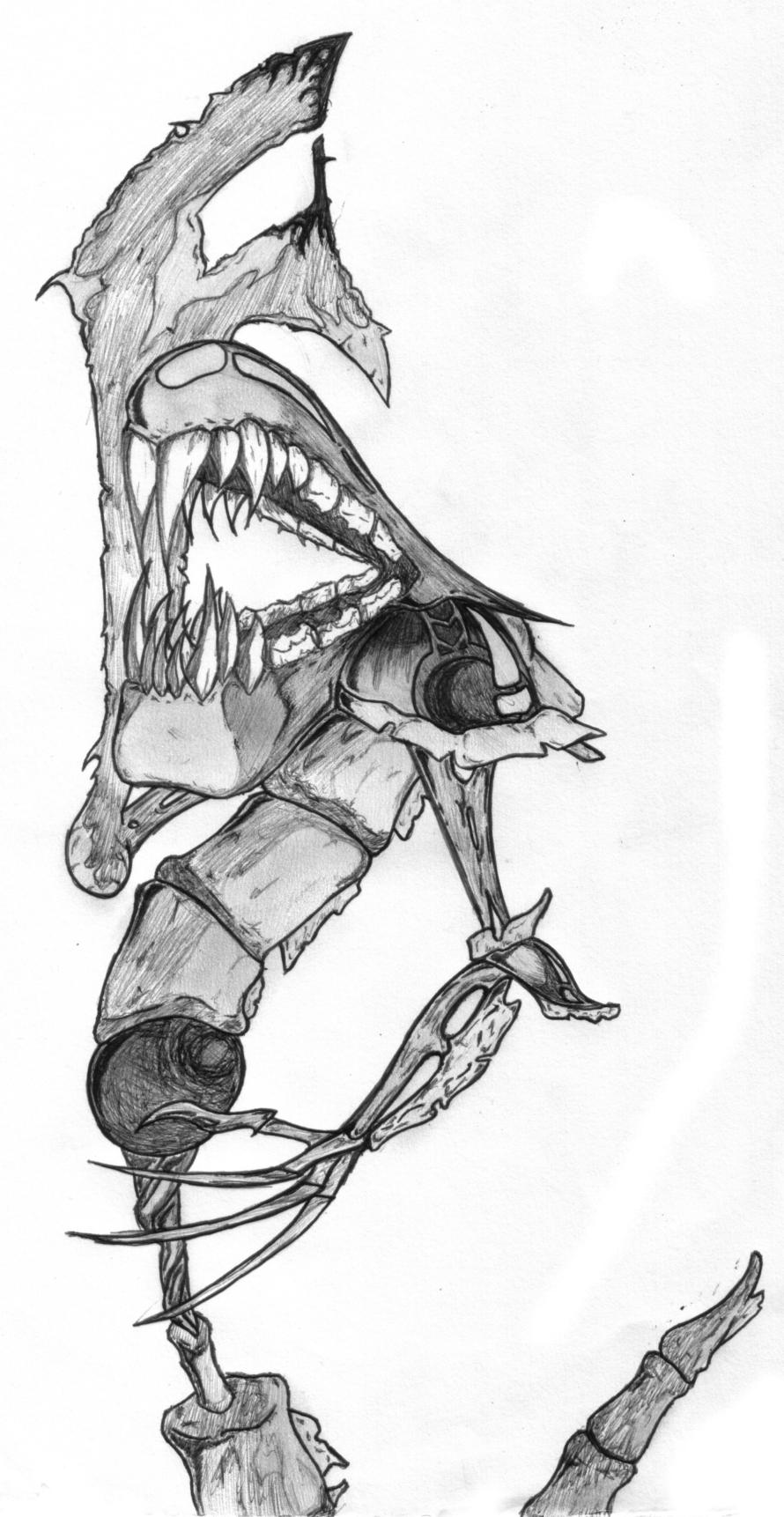 skeleton worm monster!!!