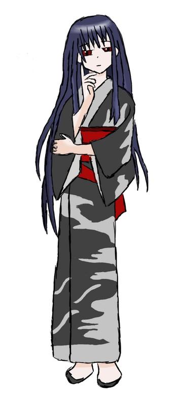Kimono Girl (pencil then PS)