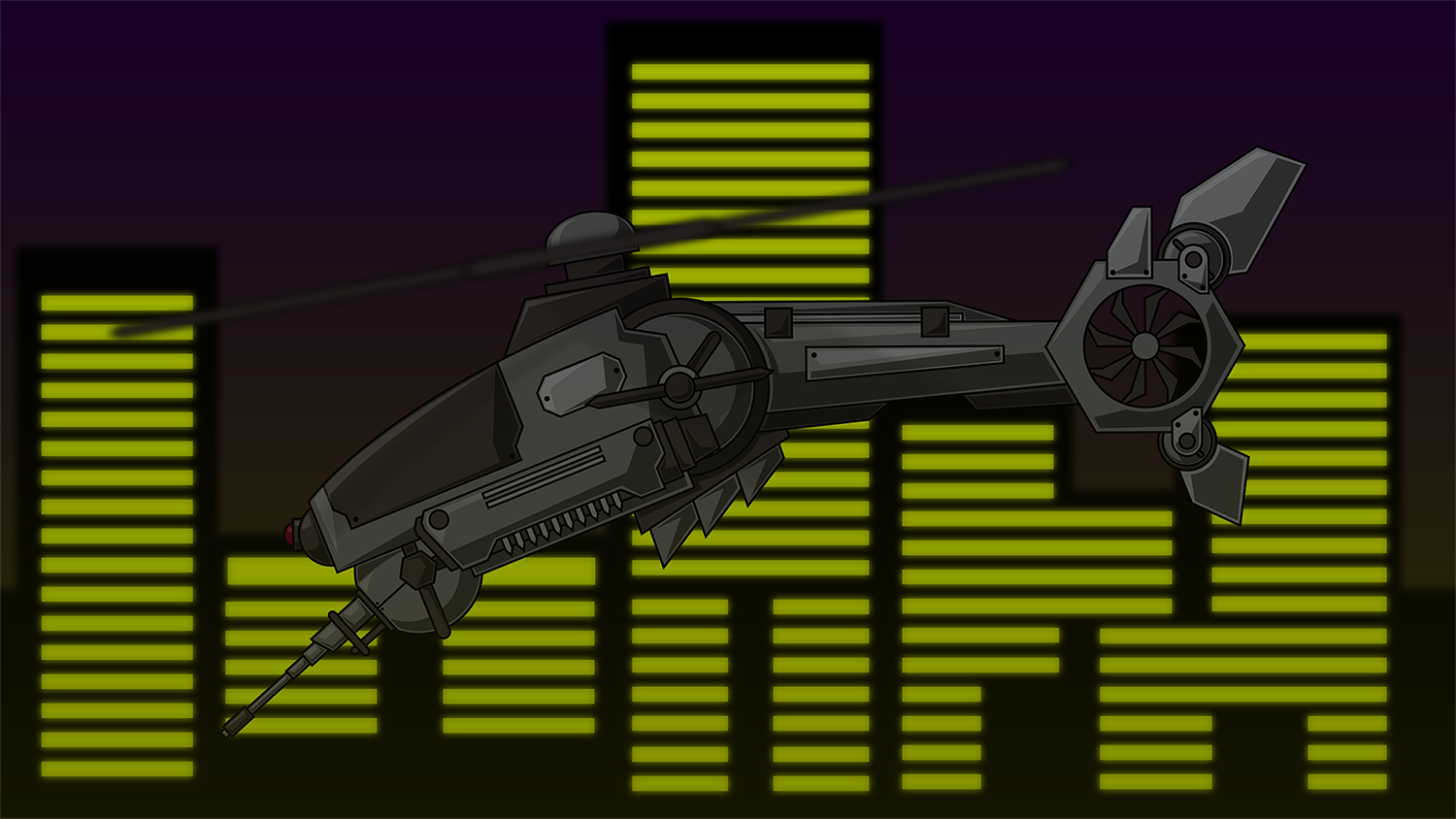 Scifi helicopter