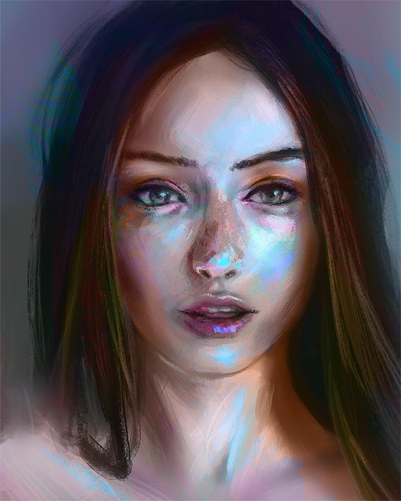 Color portrait practice