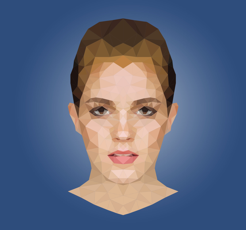 Low poly portrait of Emma W