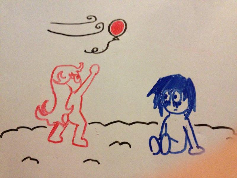Ooh! Look! A balloon!