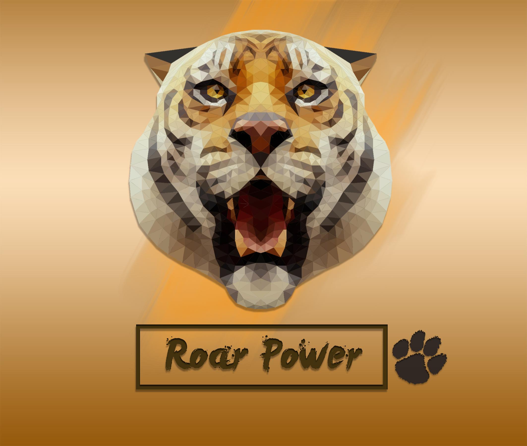 Low poly portrait Tiger