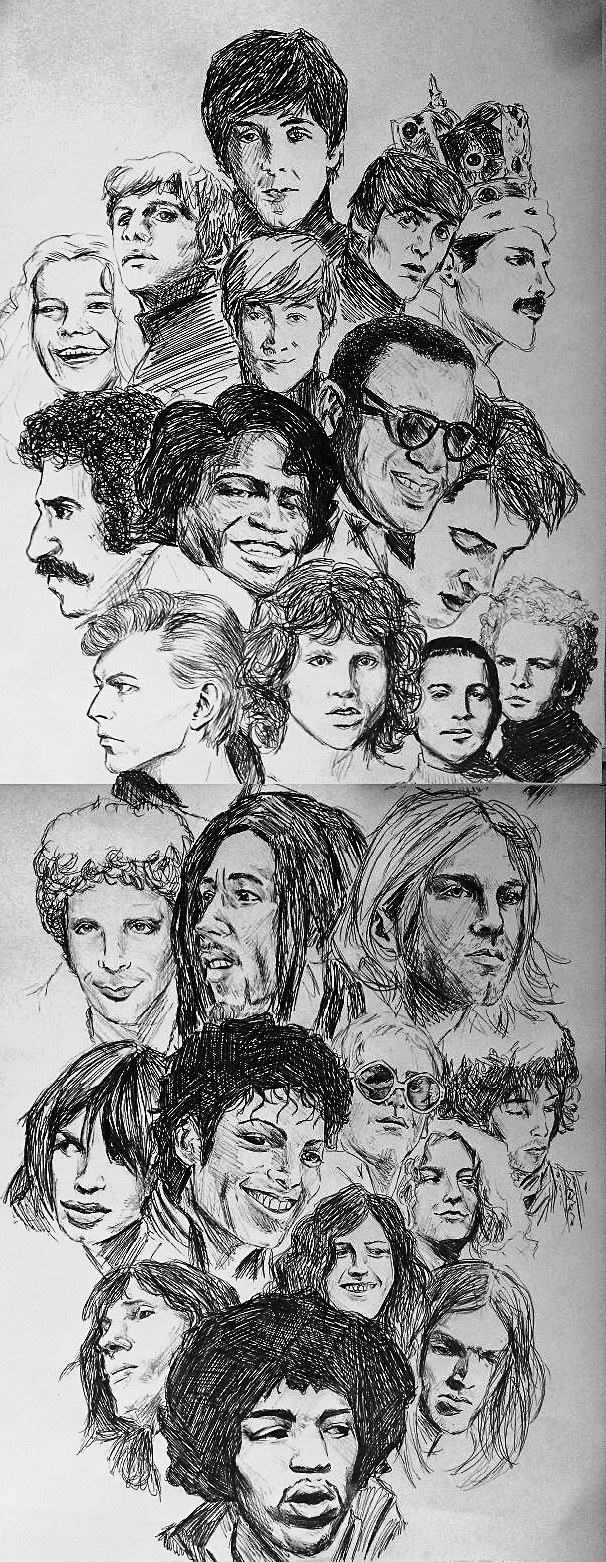 Faces of music.