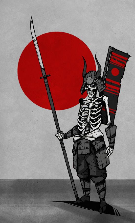 Naginata Skeleton