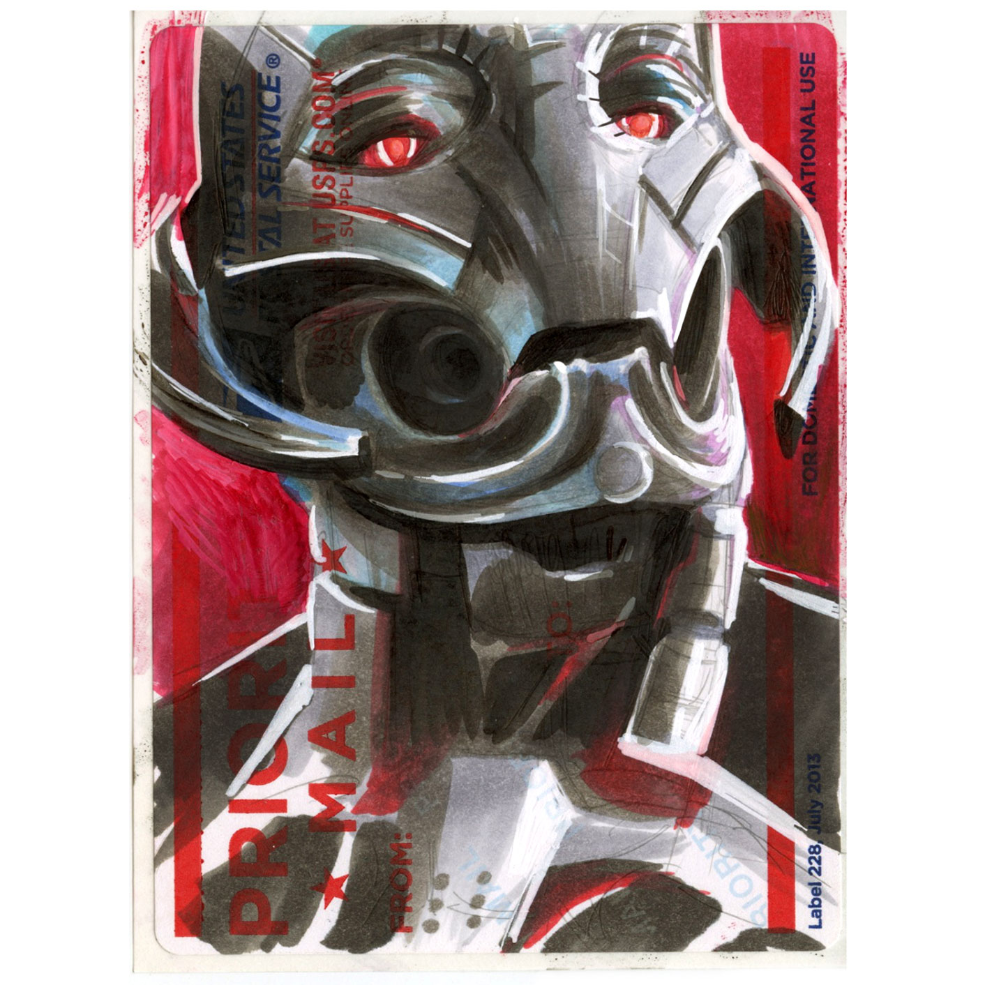 Copic Ultron on a Label 228