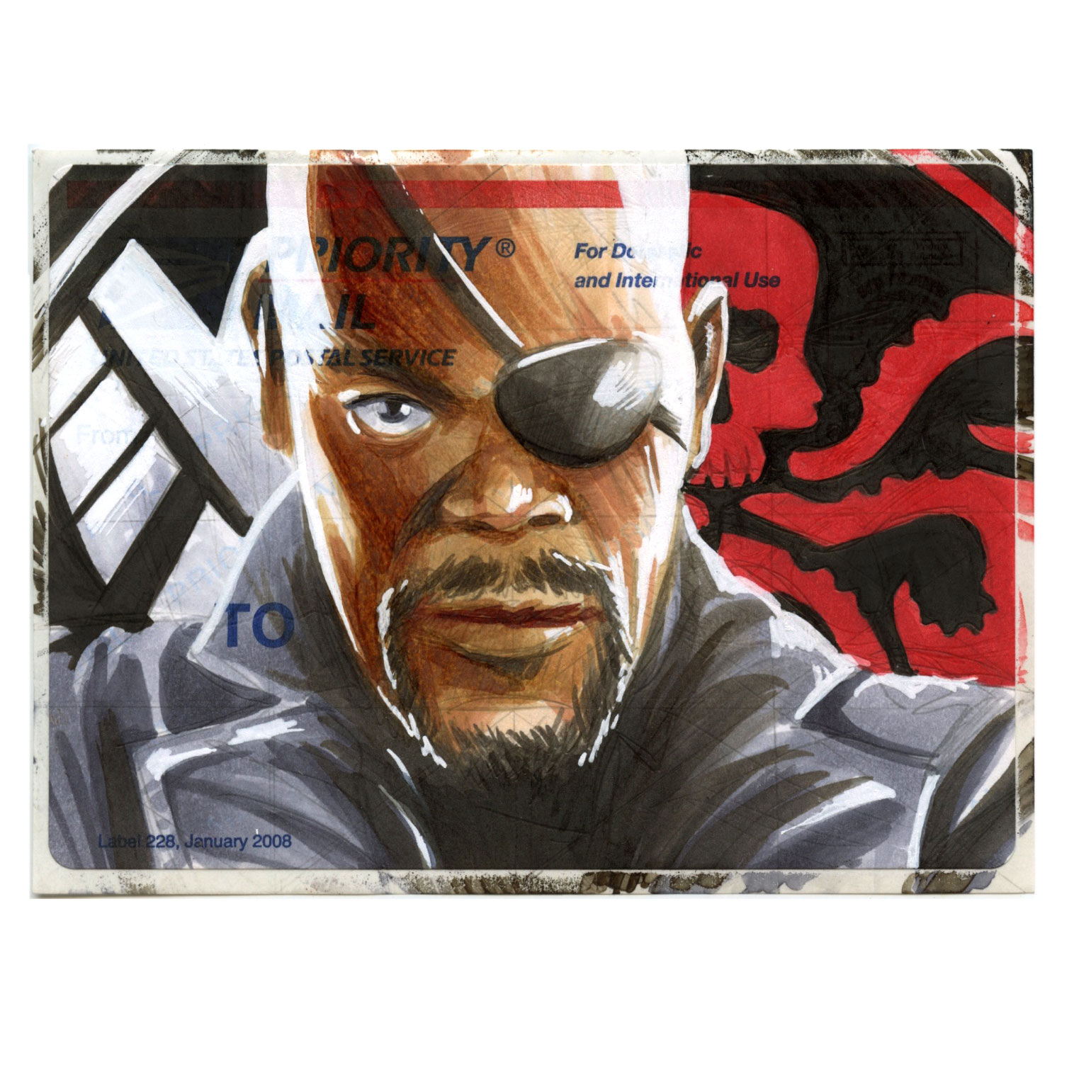 Copic Nick Fury on a 228