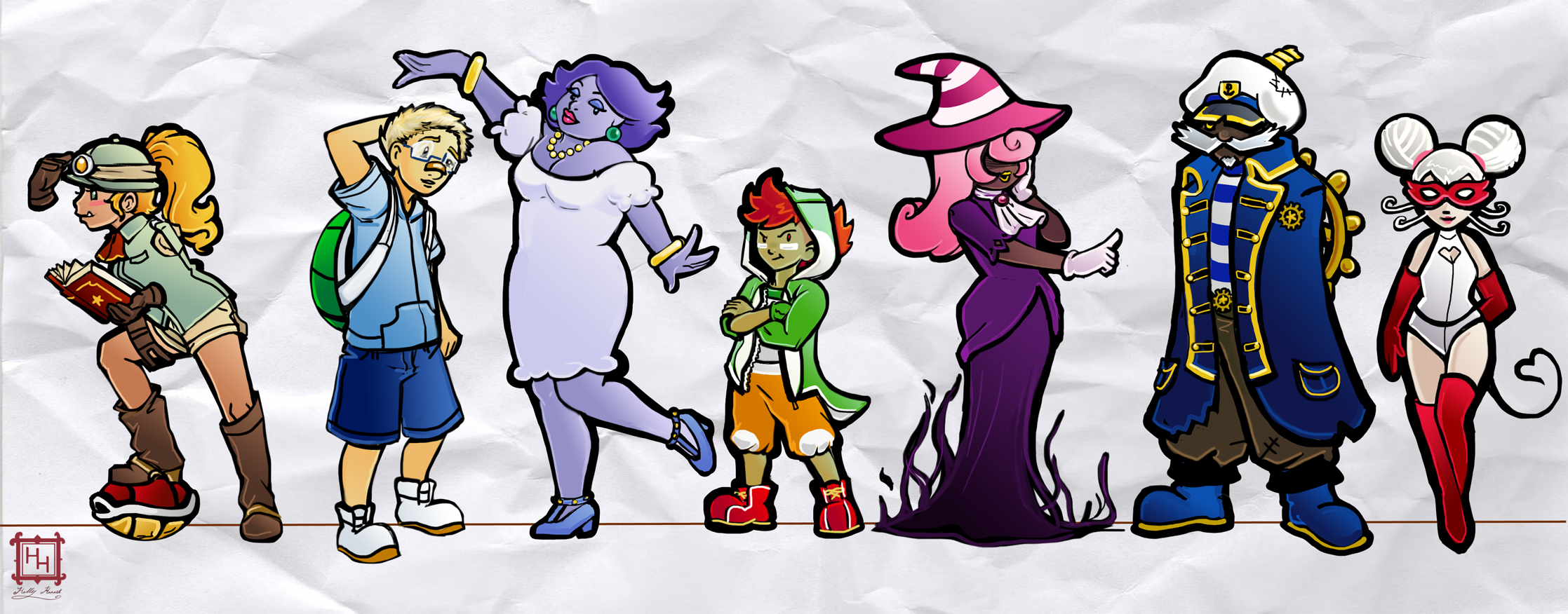 paper mario ttyd partners by madame origami on newgrounds
