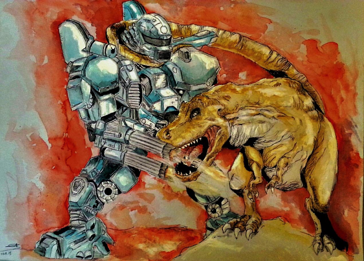 T Rex Vs Gaint Robot