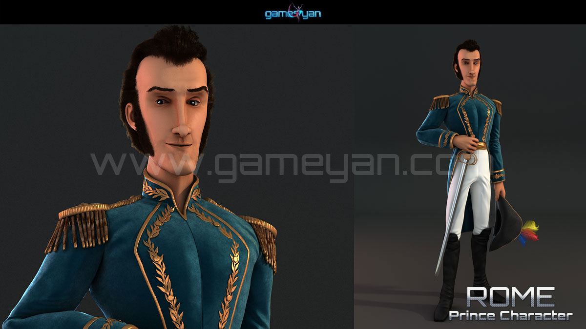 Prince Game Character Modeling