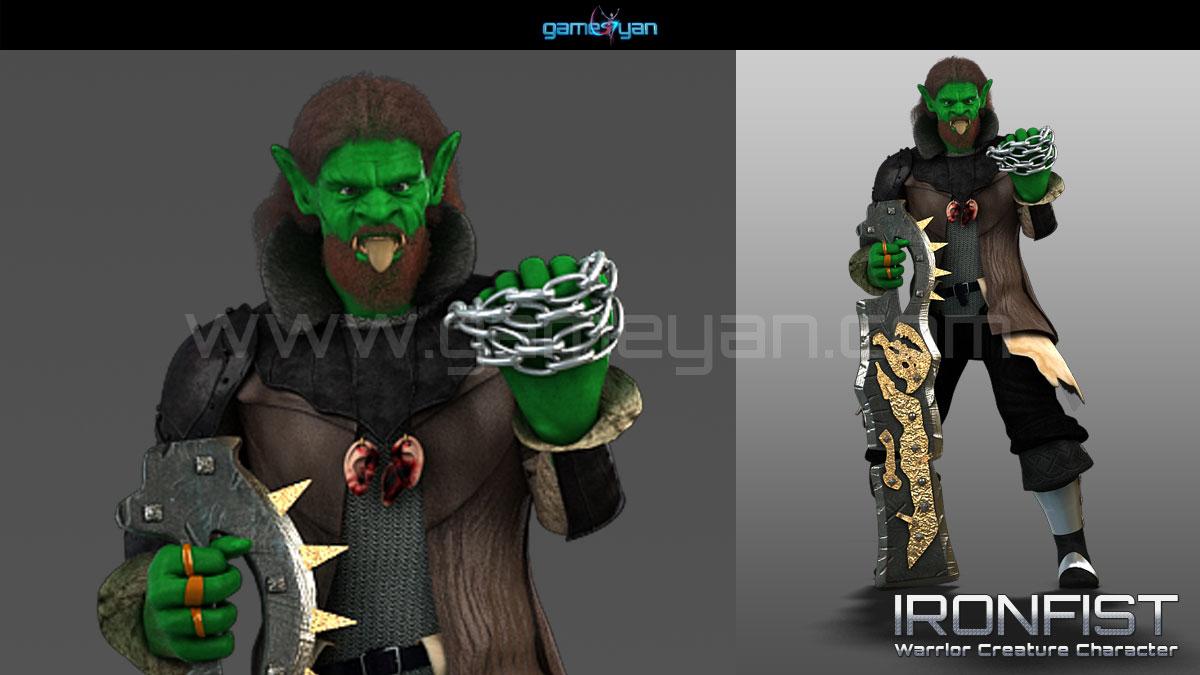 Ironfist creature Character Animation