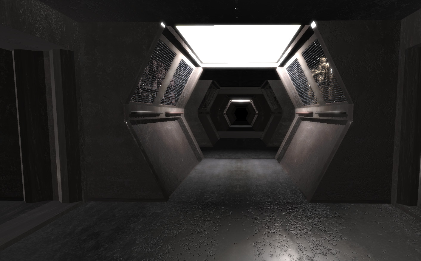 Creepy Spaceship Corridor