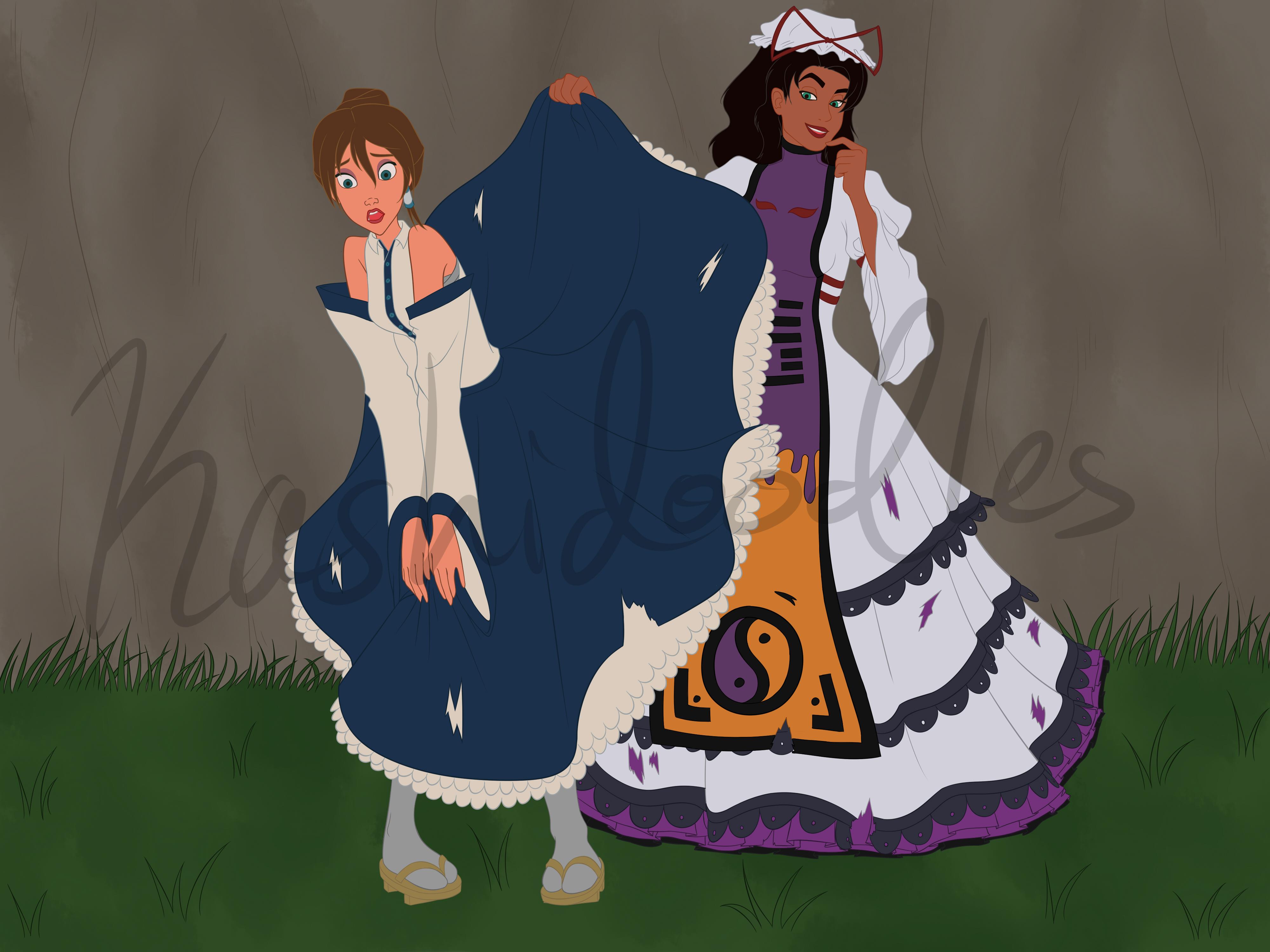 Disney Touhou - Upskirt Scene