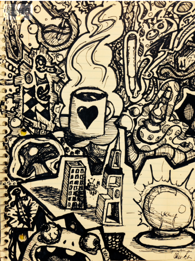 Abstract Notebook Page