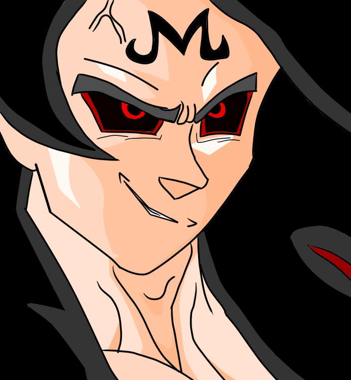 SS 4 Majin Goku Digital drawing