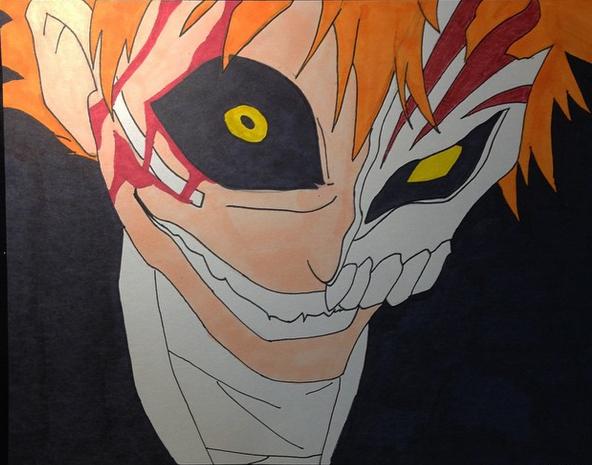 Bleach Ichigo Kurosaki hallow drawing